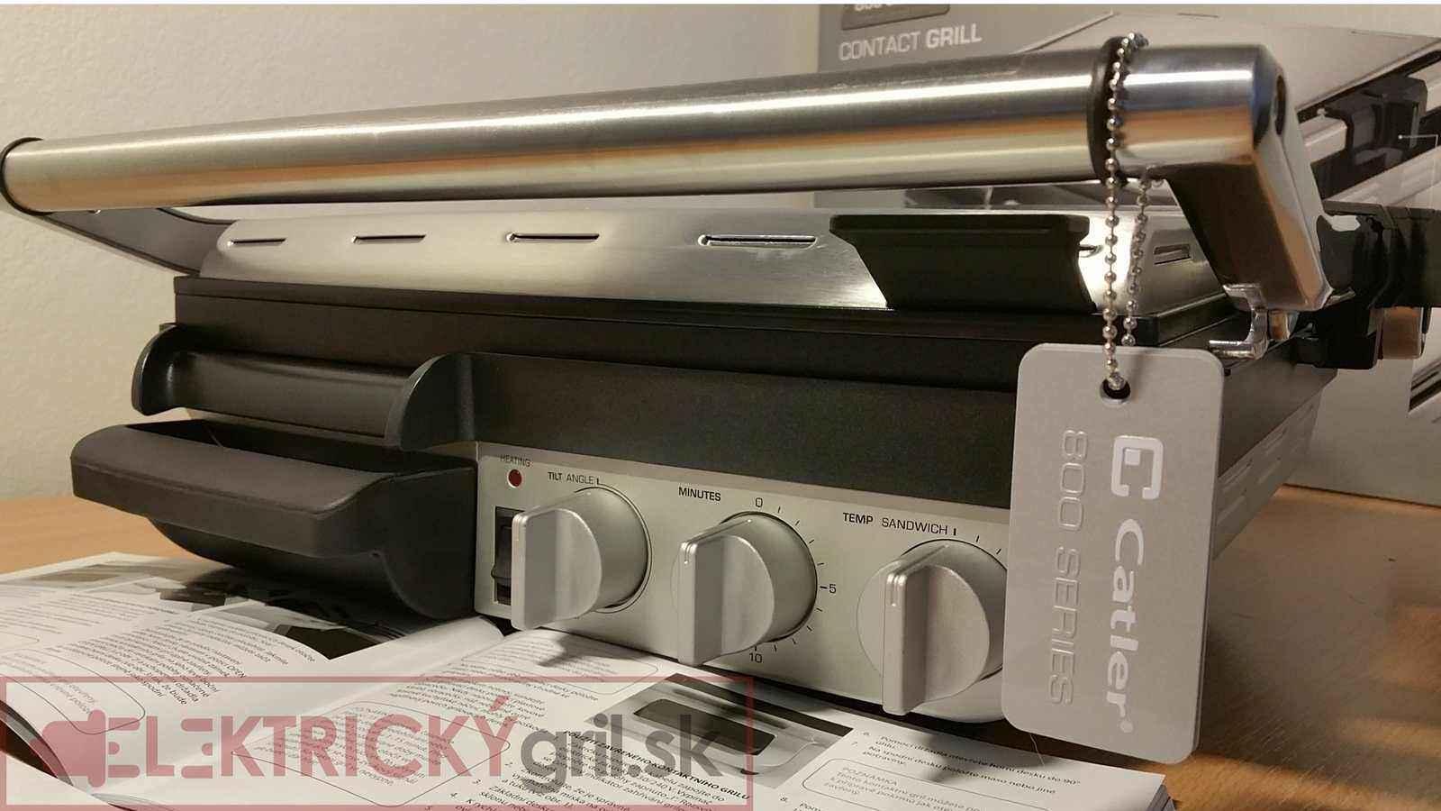 Elektrický gril Catler GR8012-tento gril vás nesklame