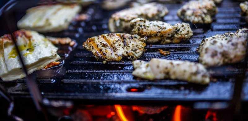 Grilované kura na cesnaku